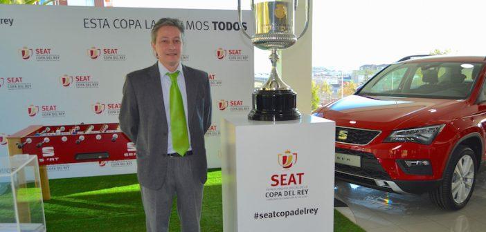 La Copa del Rey de Futbol en el concesionario SEAT en Santander,Miguel Arroyo