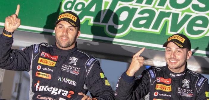 RaceSeven y Roberto Blach, campeones de la Peugeot Rally Cup Ibérica en el Rallye Casinos do Algarve