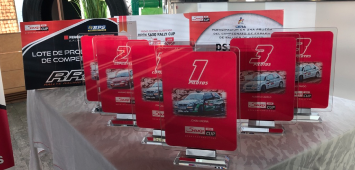 Entregados los trofeos de la Open Saxo Rally Cup