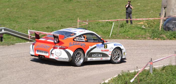 Marcos Diego e Iván Bartolomé, unico equipo cántabro en el Rallysprint de Llanera