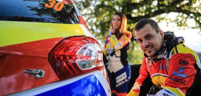 Excelente remontada de Efrén Llarena y Sara Fernández en el Rally de Roma