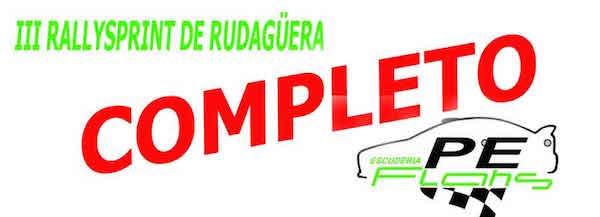El Rallysprint de Rudagüera completa el número máximo de equipos a poco de abrirse la inscripción