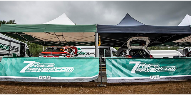 Objetivos cumplidos bajo las carpas de RaceSeven en el complicado Rallye Terra da Auga