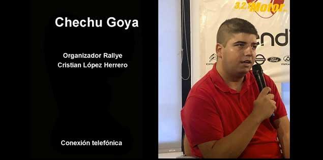 Entrevista con Chechu Goya sobre la puntuabilidad del Rally Cristian López para la Copa de España de Rallies.