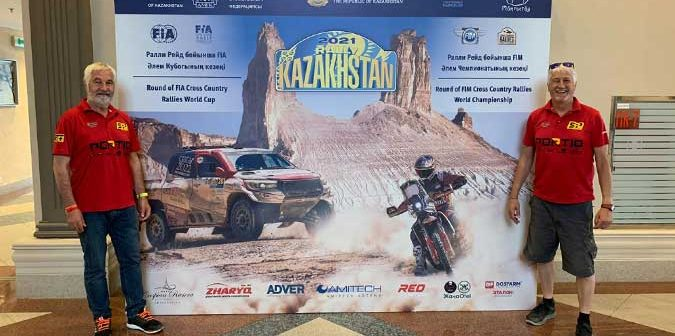 Jose Luis Peña en la segunda prueba del Mundial de Cross Country en Kazakhastan