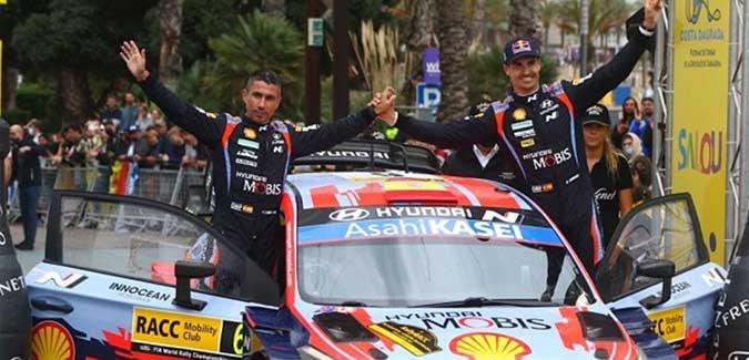 """Sordo """"vuela"""" en la última etapa y logra un trabajado podio en el Rally Cataluña"""